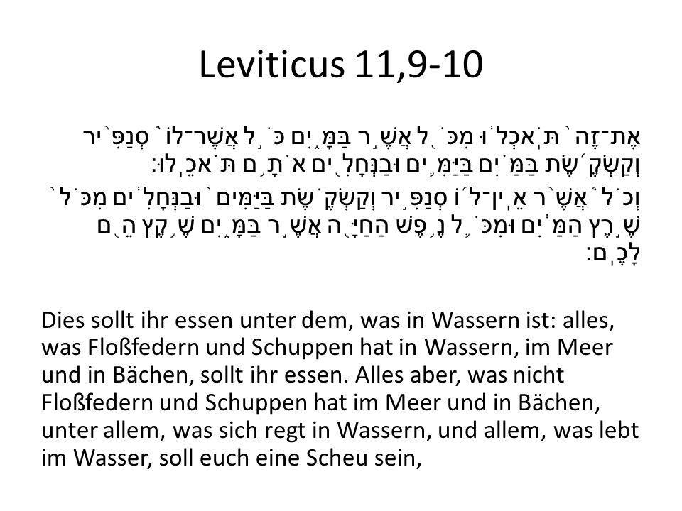 Leviticus 11,9-10