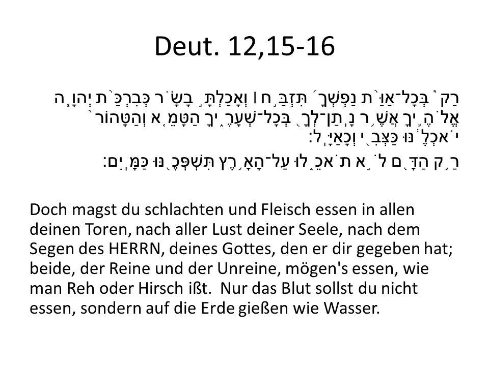 Deut. 12,15-16