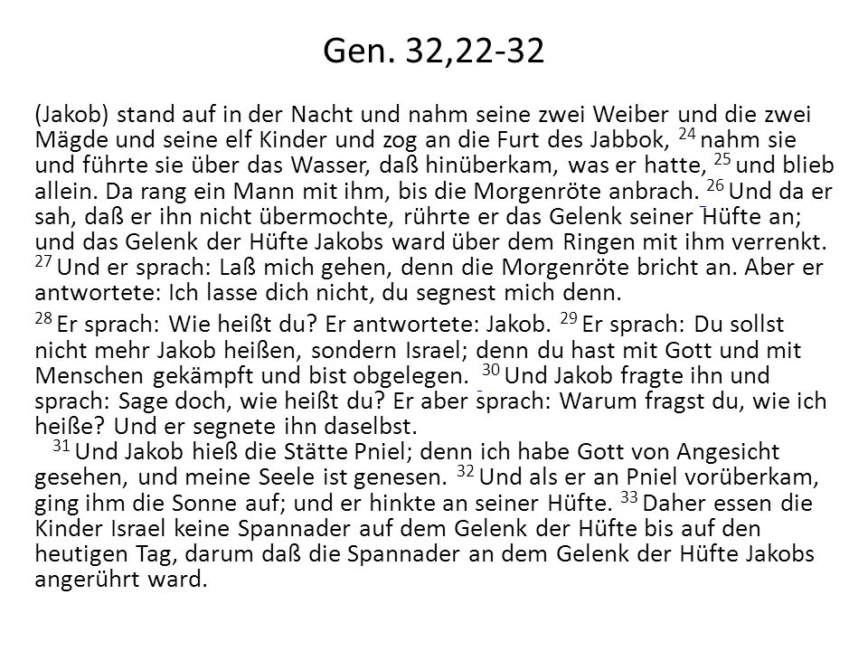 Gen. 32,22-32