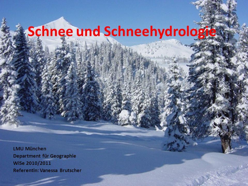 Schnee und Schneehydrologie