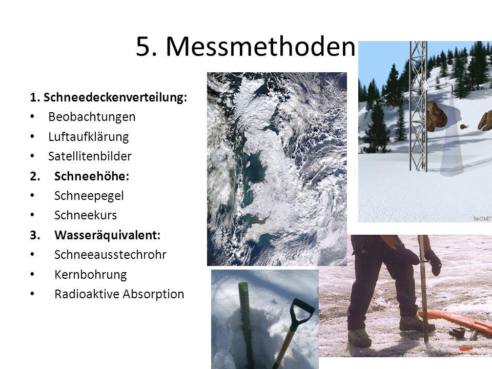 5. Messmethoden 1. Schneedeckenverteilung: Beobachtungen