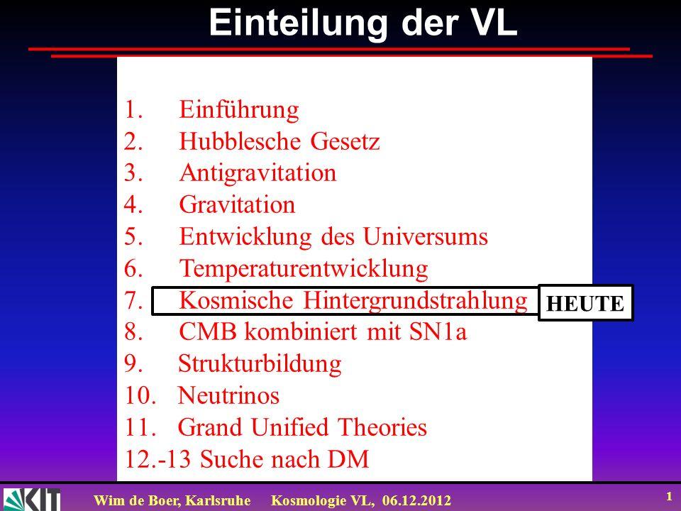 Einteilung der VL Einführung Hubblesche Gesetz Antigravitation