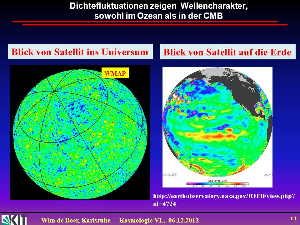Blick von Satellit ins Universum Blick von Satellit auf die Erde