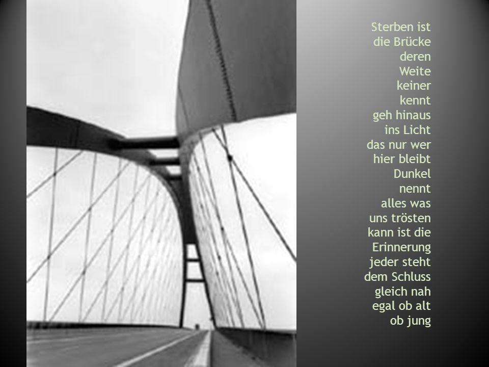 Sterben ist die Brücke deren Weite keiner kennt