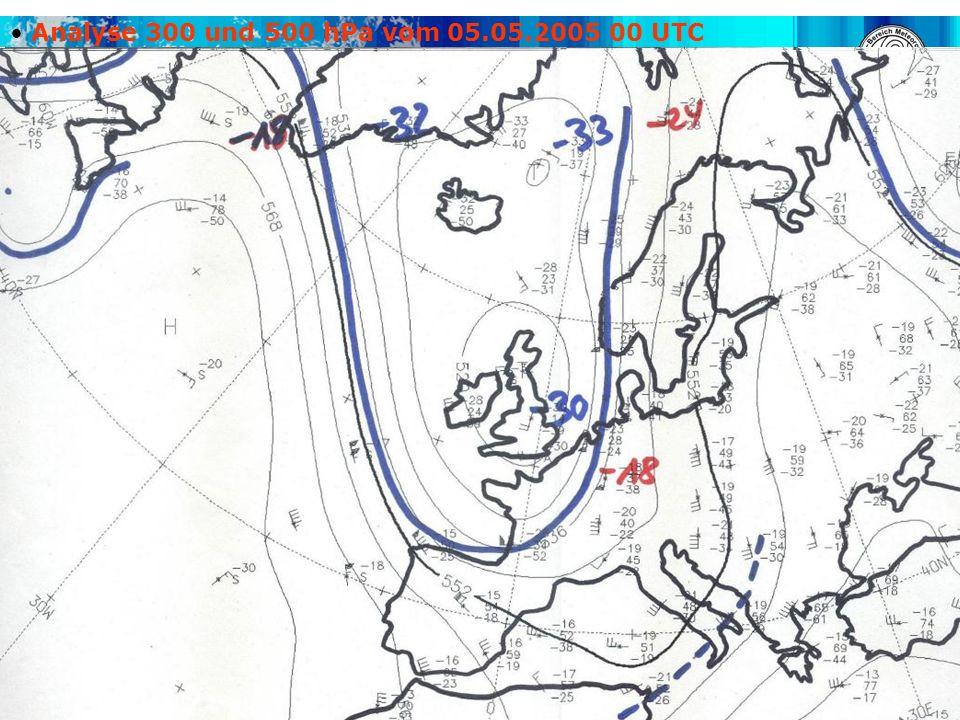 Analyse 300 und 500 hPa vom 05.05.2005 00 UTC