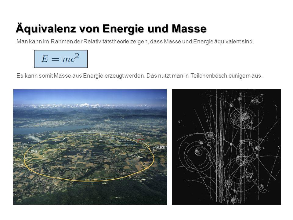 Äquivalenz von Energie und Masse