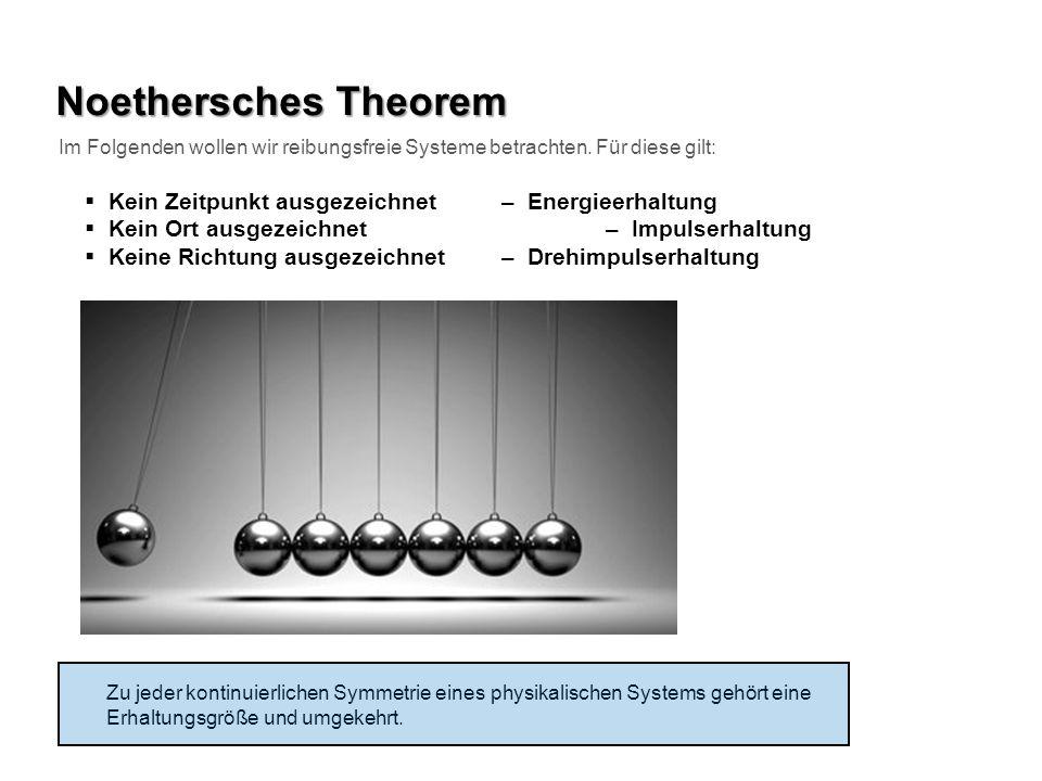 Noethersches Theorem Kein Zeitpunkt ausgezeichnet – Energieerhaltung