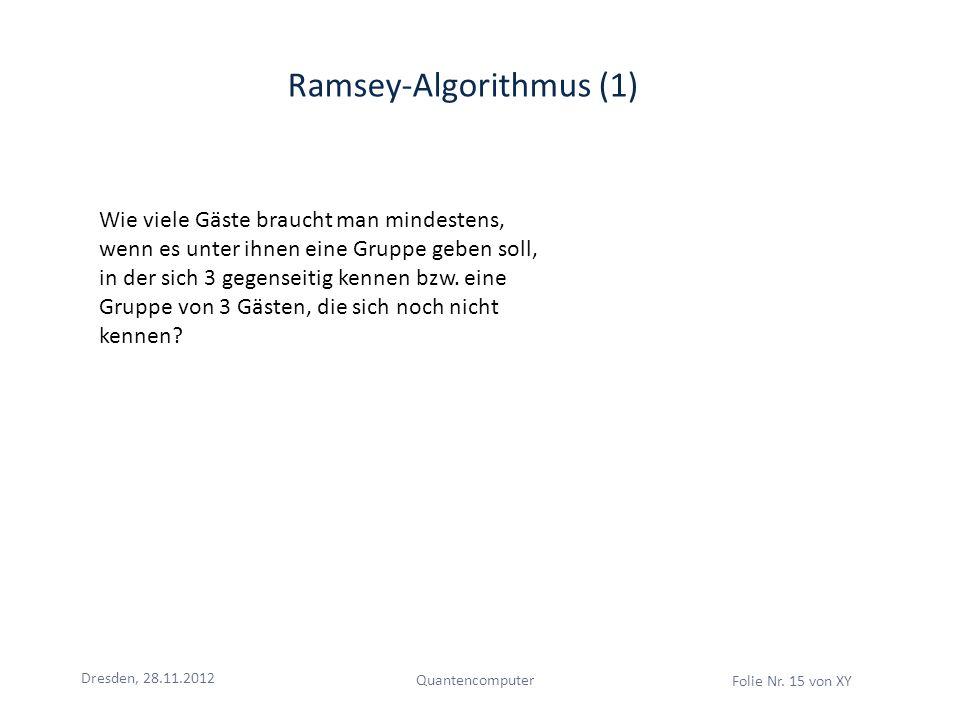Ramsey-Algorithmus (1)