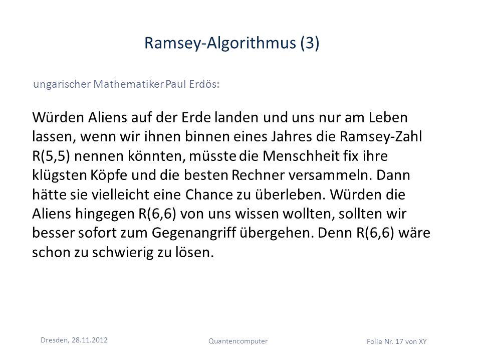 Ramsey-Algorithmus (3)