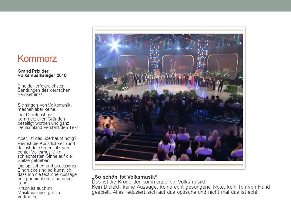Kommerz Grand Prix der Volksmusiksieger 2010. Eine der erfolgreichsten Sendungen des deutschen Fernsehens!
