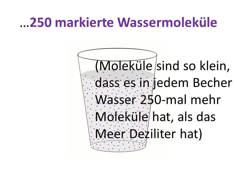 …250 markierte Wassermoleküle