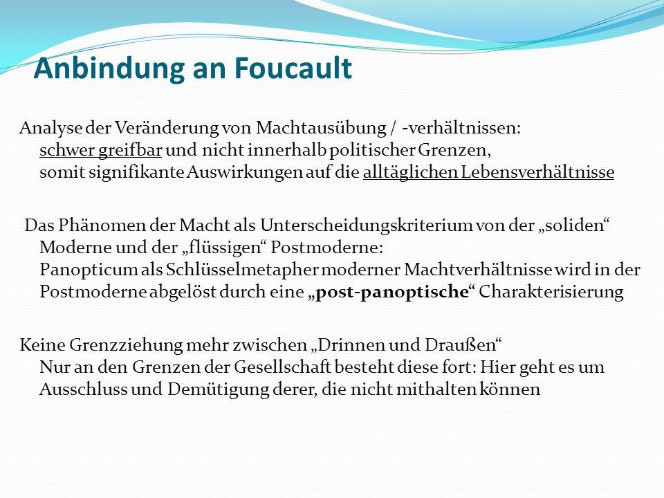 Anbindung an Foucault