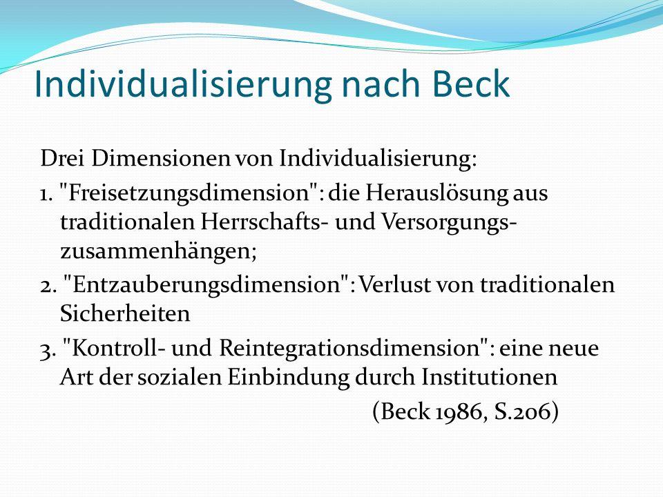 Individualisierung nach Beck