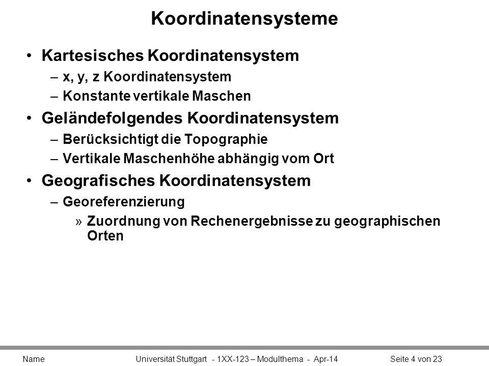 Koordinatensysteme Kartesisches Koordinatensystem