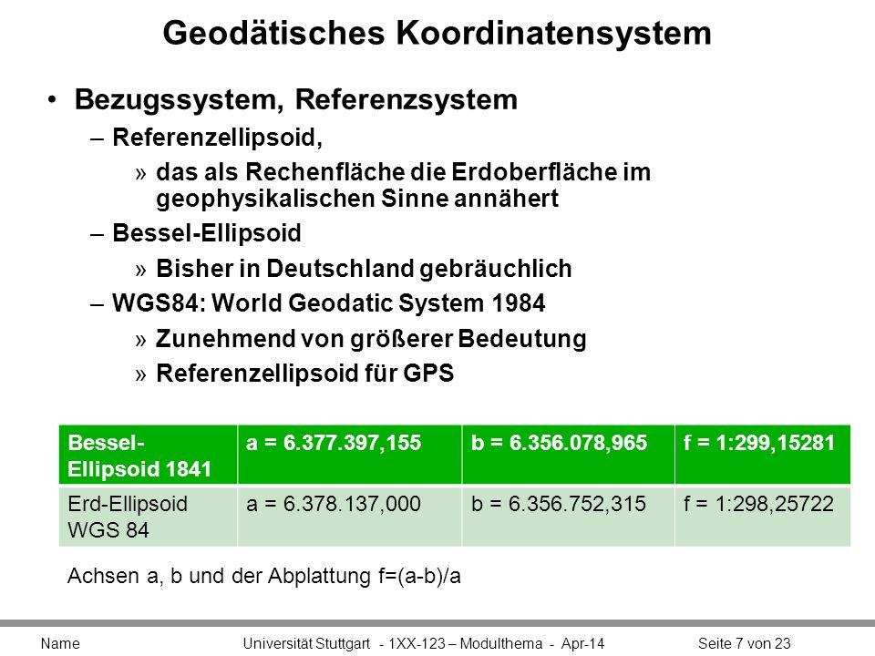Geodätisches Koordinatensystem