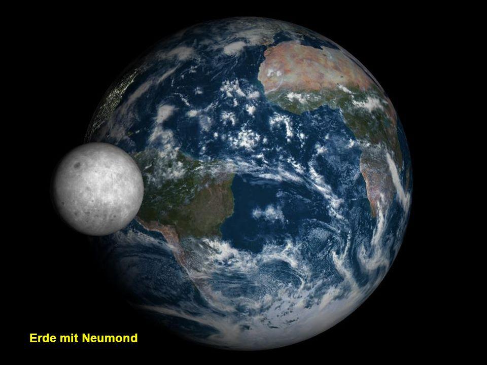 Erde mit Neumond