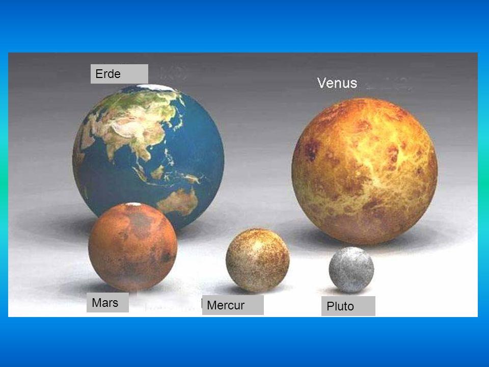Erde Mars Mercur Pluto