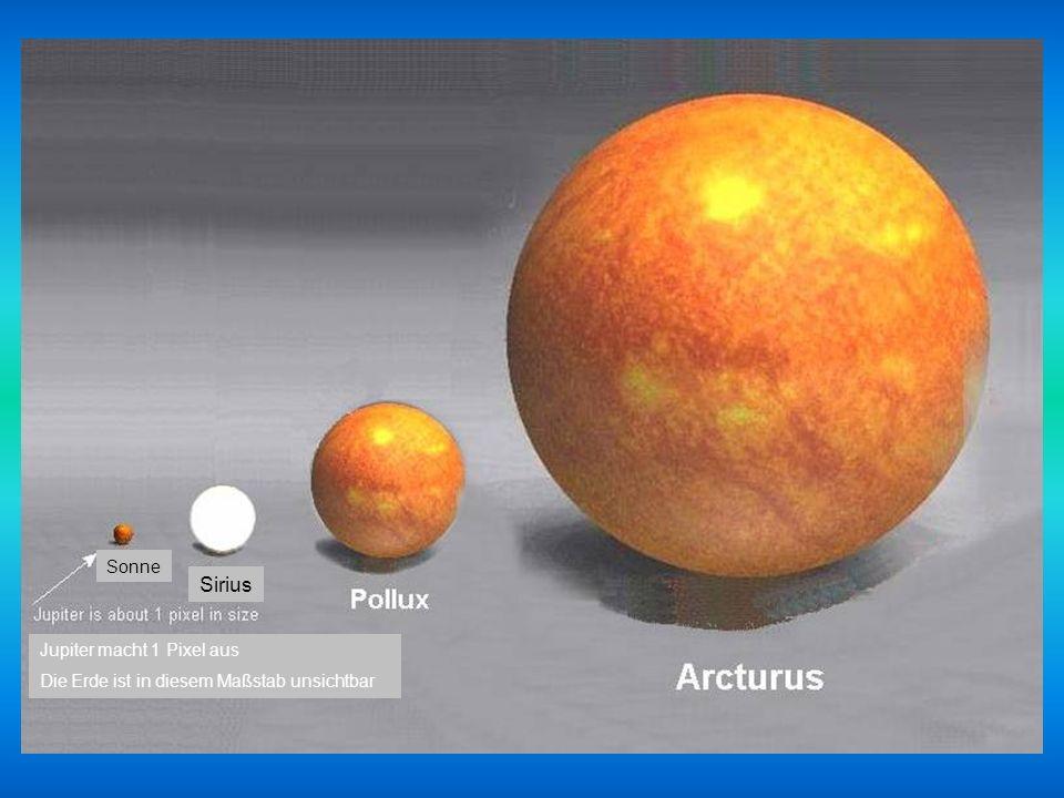 Sirius Sonne Jupiter macht 1 Pixel aus