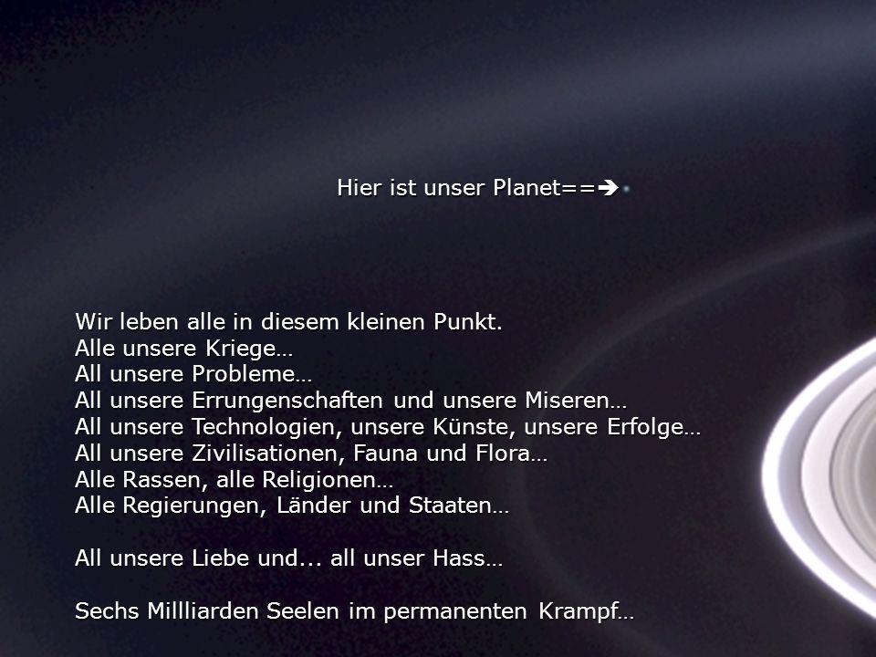 Hier ist unser Planet==