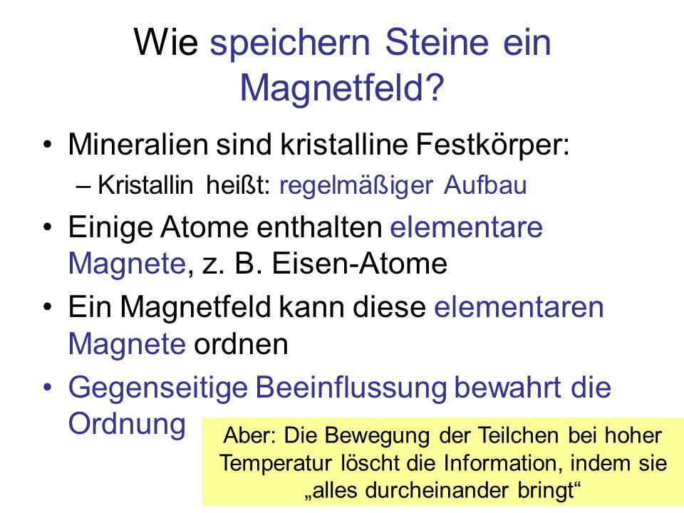 Wie speichern Steine ein Magnetfeld