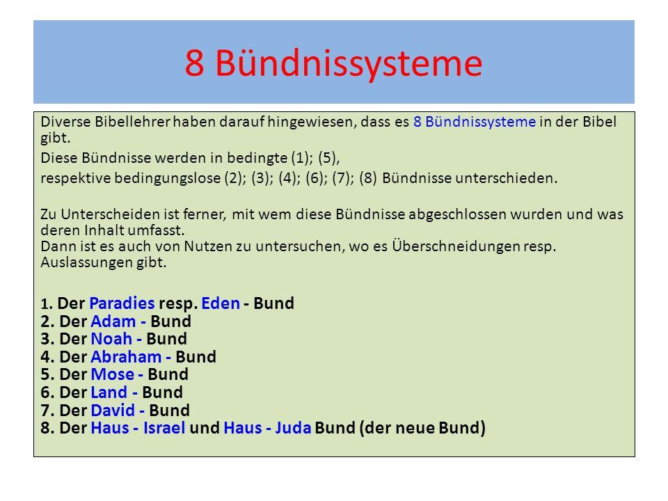 8 Bündnissysteme