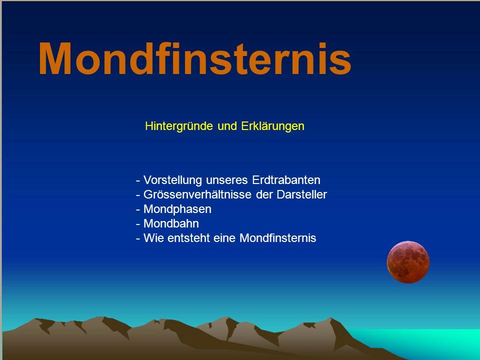 Mondfinsternis Hintergründe und Erklärungen