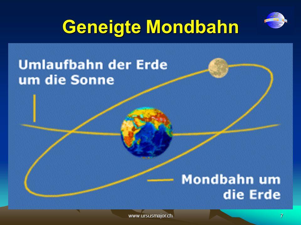 Geneigte Mondbahn www.ursusmajor.ch