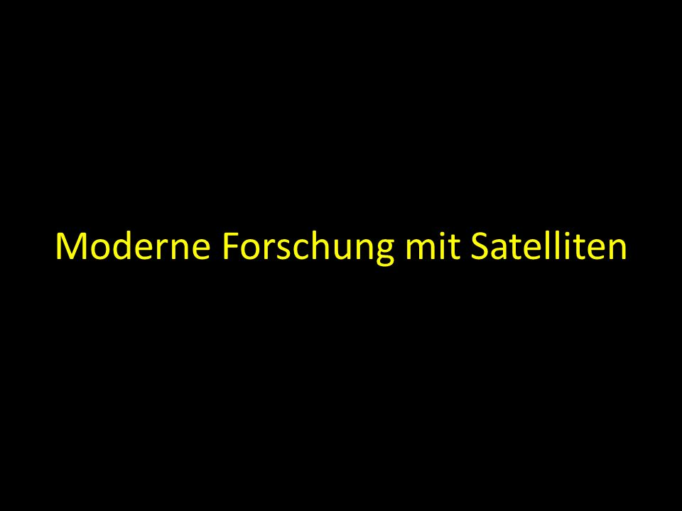 Moderne Forschung mit Satelliten