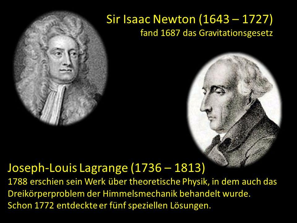Sir Isaac Newton (1643 – 1727) fand 1687 das Gravitationsgesetz