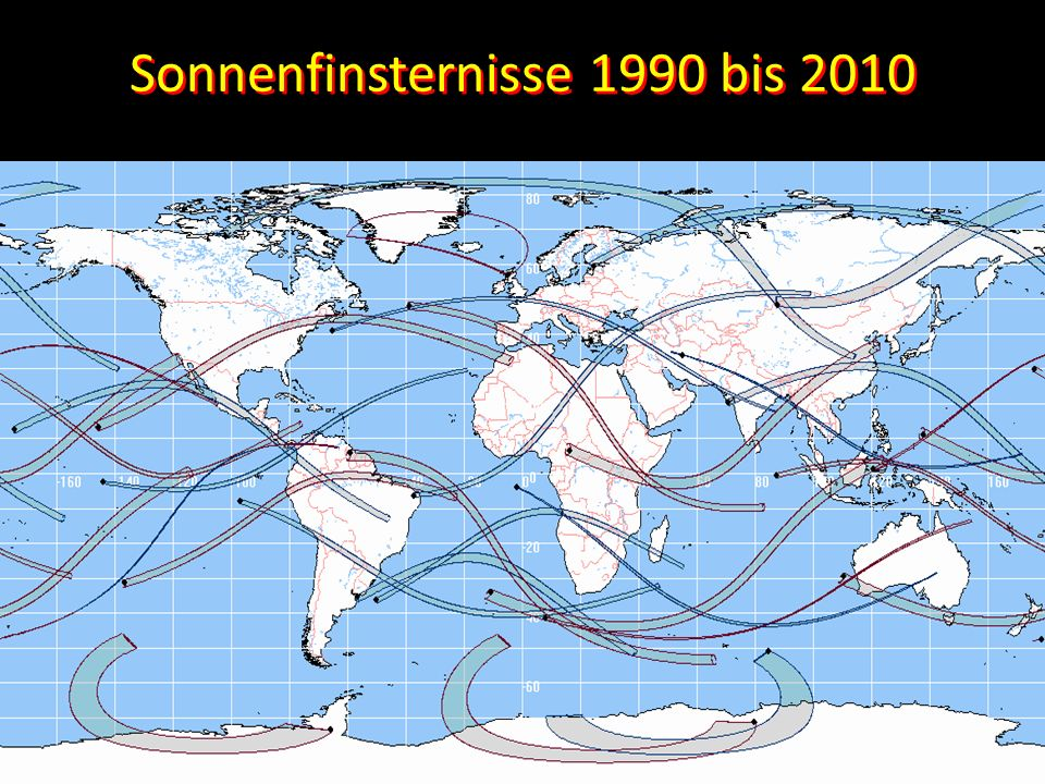 Sonnenfinsternisse 1990 bis 2010