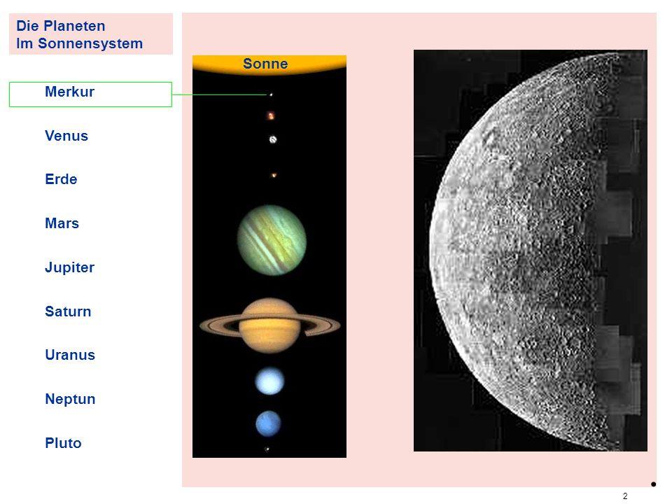 . PlanMerkur Die Planeten Im Sonnensystem Sonne Merkur Venus Erde Mars
