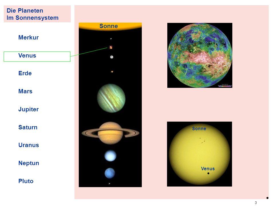 . PlanVenus Die Planeten Im Sonnensystem Sonne Merkur Venus Erde Mars