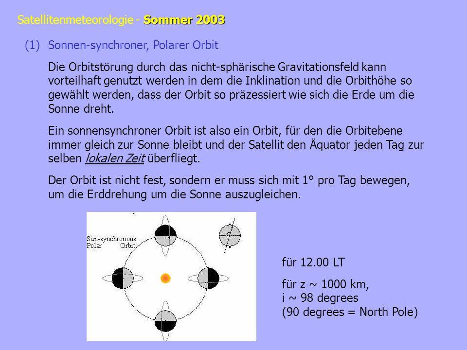 Sonnen-synchroner, Polarer Orbit