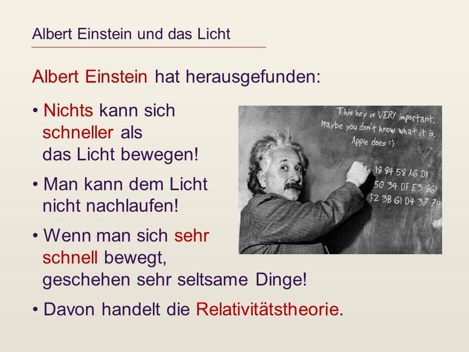 Albert Einstein und das Licht