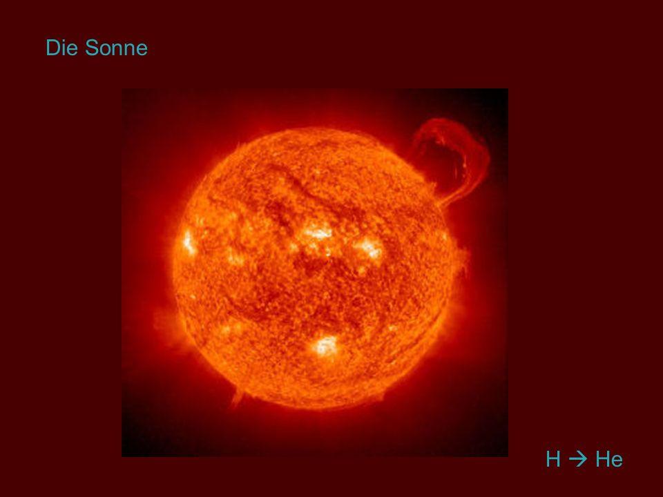 Die Sonne Helium erwähnen! H  He