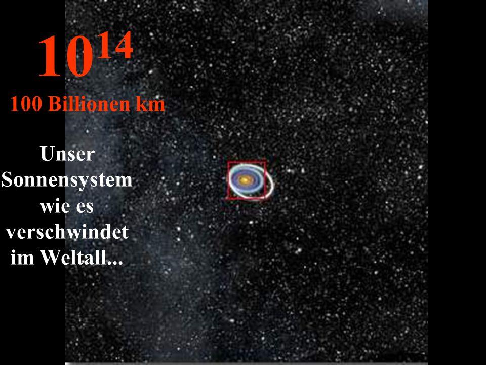 Unser Sonnensystemwie es verschwindet im Weltall...