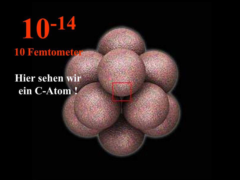 Hier sehen wir ein C-Atom !