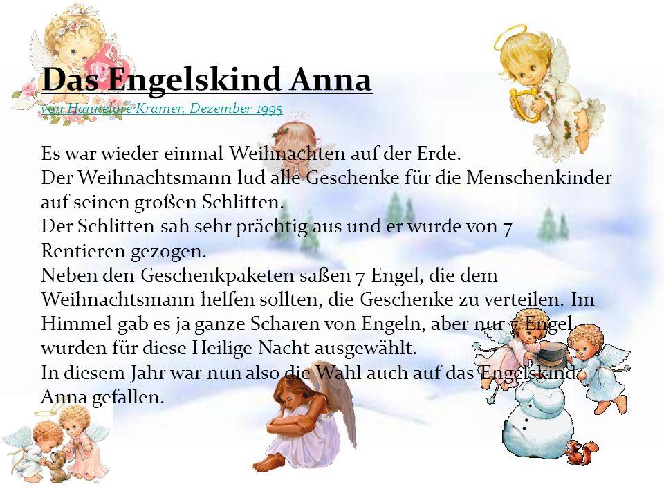 Das Engelskind Anna von Hannelore Kramer, Dezember 1995.