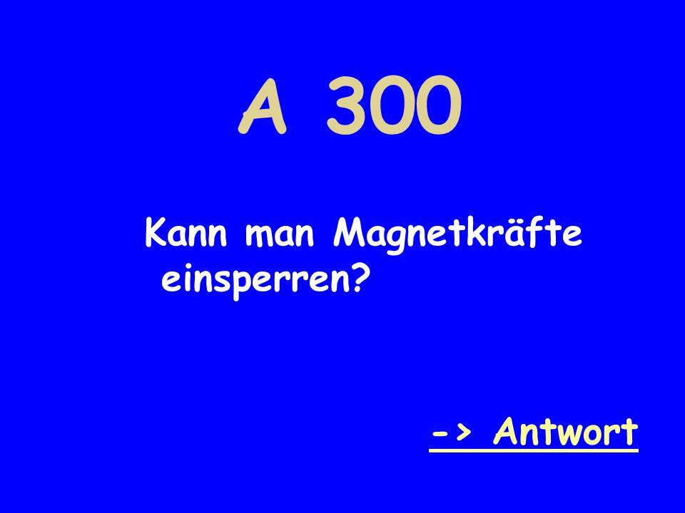 A 300 Kann man Magnetkräfte einsperren -> Antwort