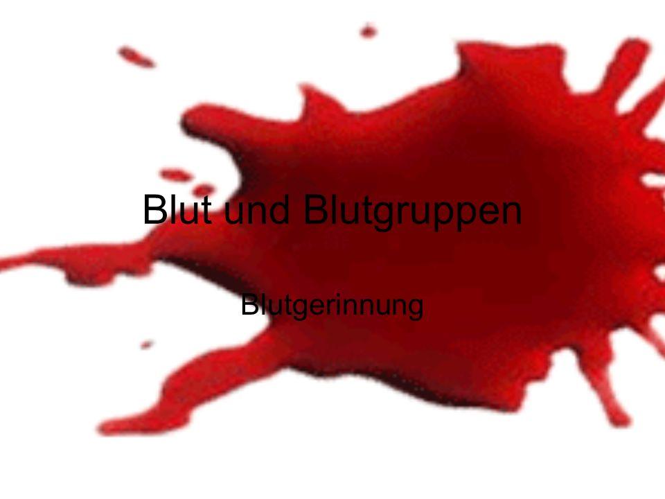 Blut und Blutgruppen Blutgerinnung