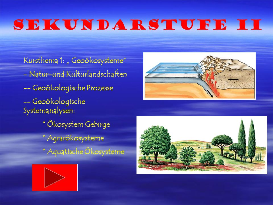 """Sekundarstufe II Kursthema 1: """" Geoökosysteme"""