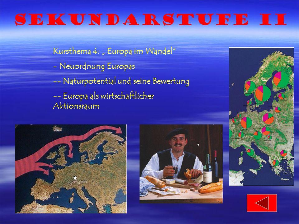 "Sekundarstufe II Kursthema 4: "" Europa im Wandel Neuordnung Europas"
