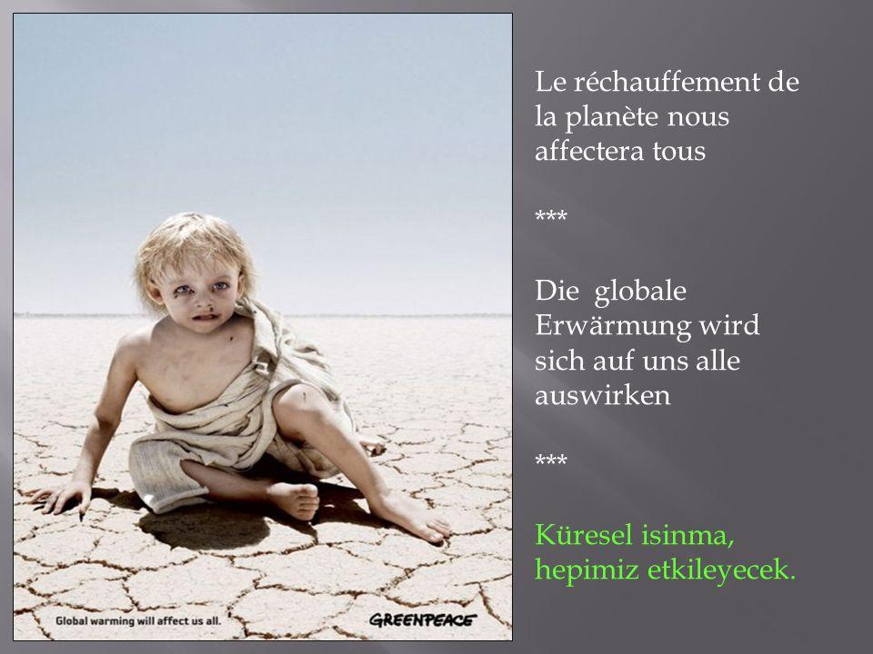 Le réchauffement de la planète nous affectera tous