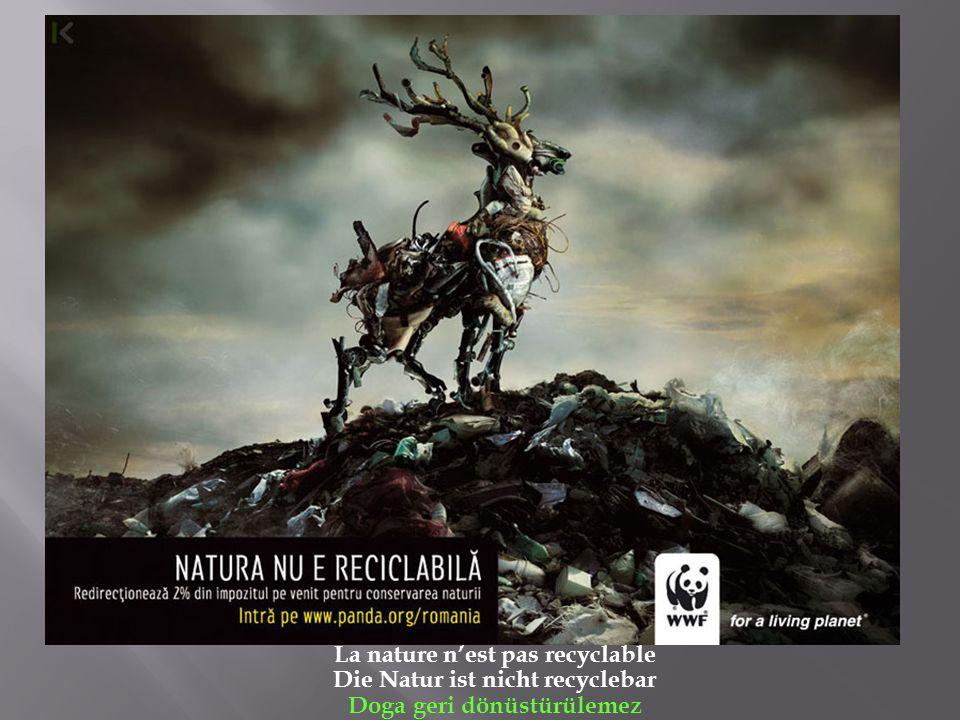 La nature n'est pas recyclable Die Natur ist nicht recyclebar