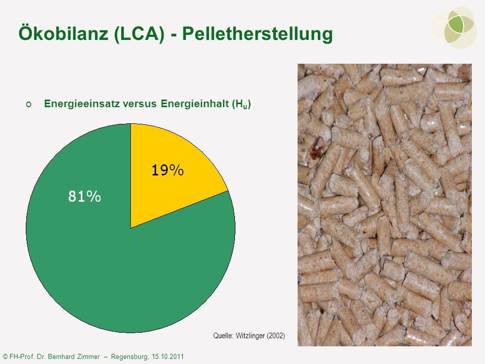 Ökobilanz (LCA) - Pelletherstellung