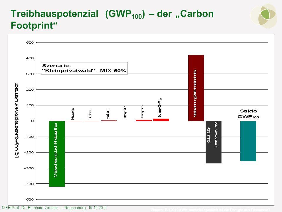 "Treibhauspotenzial (GWP100) – der ""Carbon Footprint"