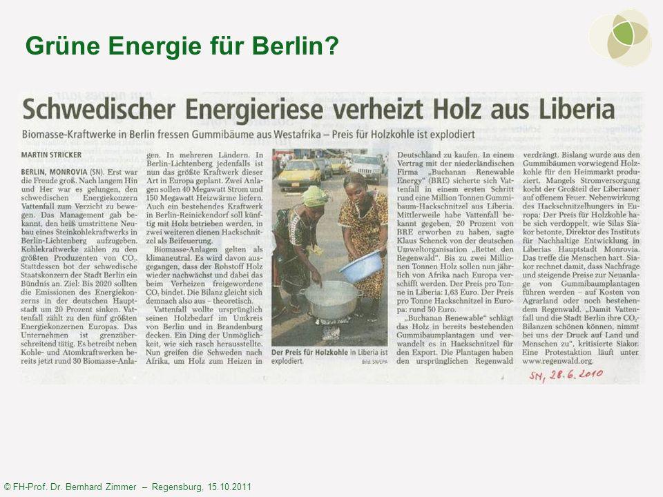 Grüne Energie für Berlin