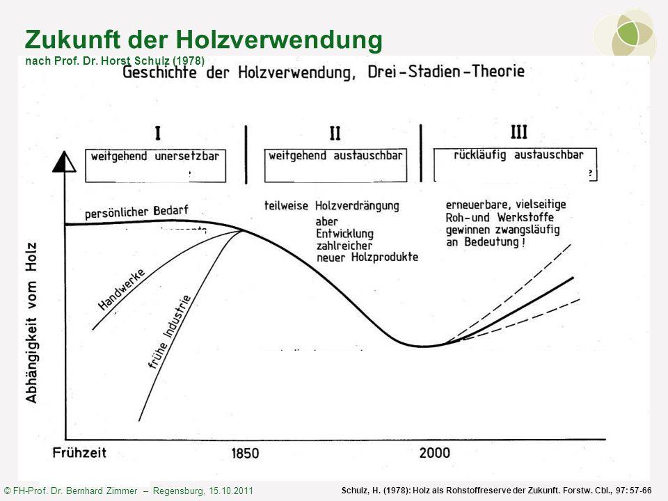 Zukunft der Holzverwendung nach Prof. Dr. Horst Schulz (1978)