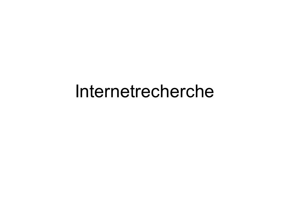 Internetrecherche