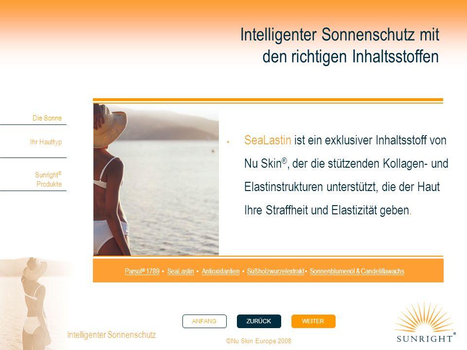 Intelligenter Sonnenschutz mit den richtigen Inhaltsstoffen